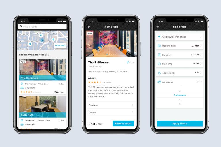 Workspace booking app