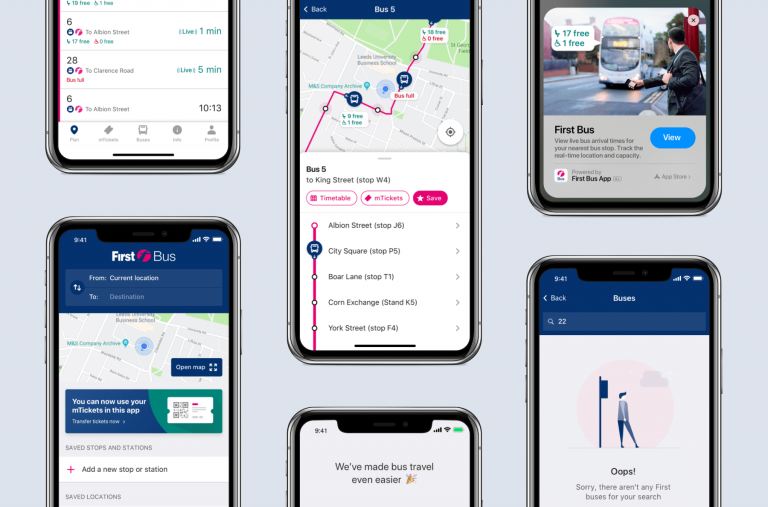 First Bus mobile solution app