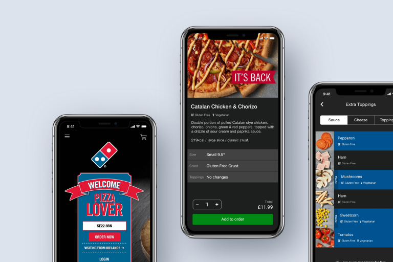 Domino's Pizza mobile app